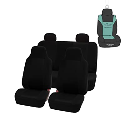 FH Group FB102114 Classic Cloth Seat Covers (Black) Full Set with Gift – Universal Fit for Cars Trucks & SUVs: Automotive