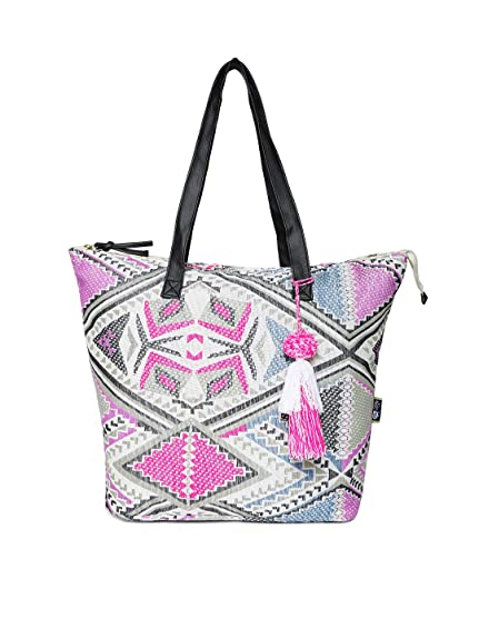 9d81c2649af8e Kanvas Katha Women s Tote Bag (Multicolor)  Amazon.in  Shoes   Handbags