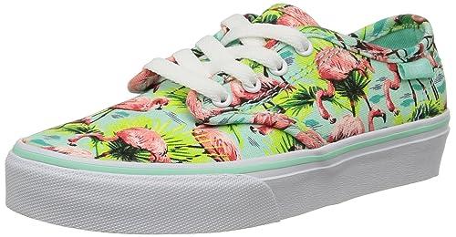 Vans - Camden Stripe, Zapatillas Niñas, (Flamingo/Mint), 27 EU