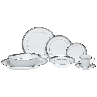 Noritake Crestwood Platinum - 50 piece set, service for eight
