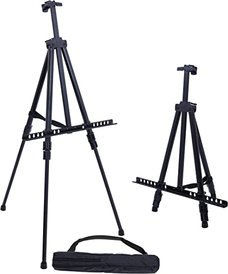 Aluminum Art Easel Stand Artist Telescoping Tripod with bag for Field...