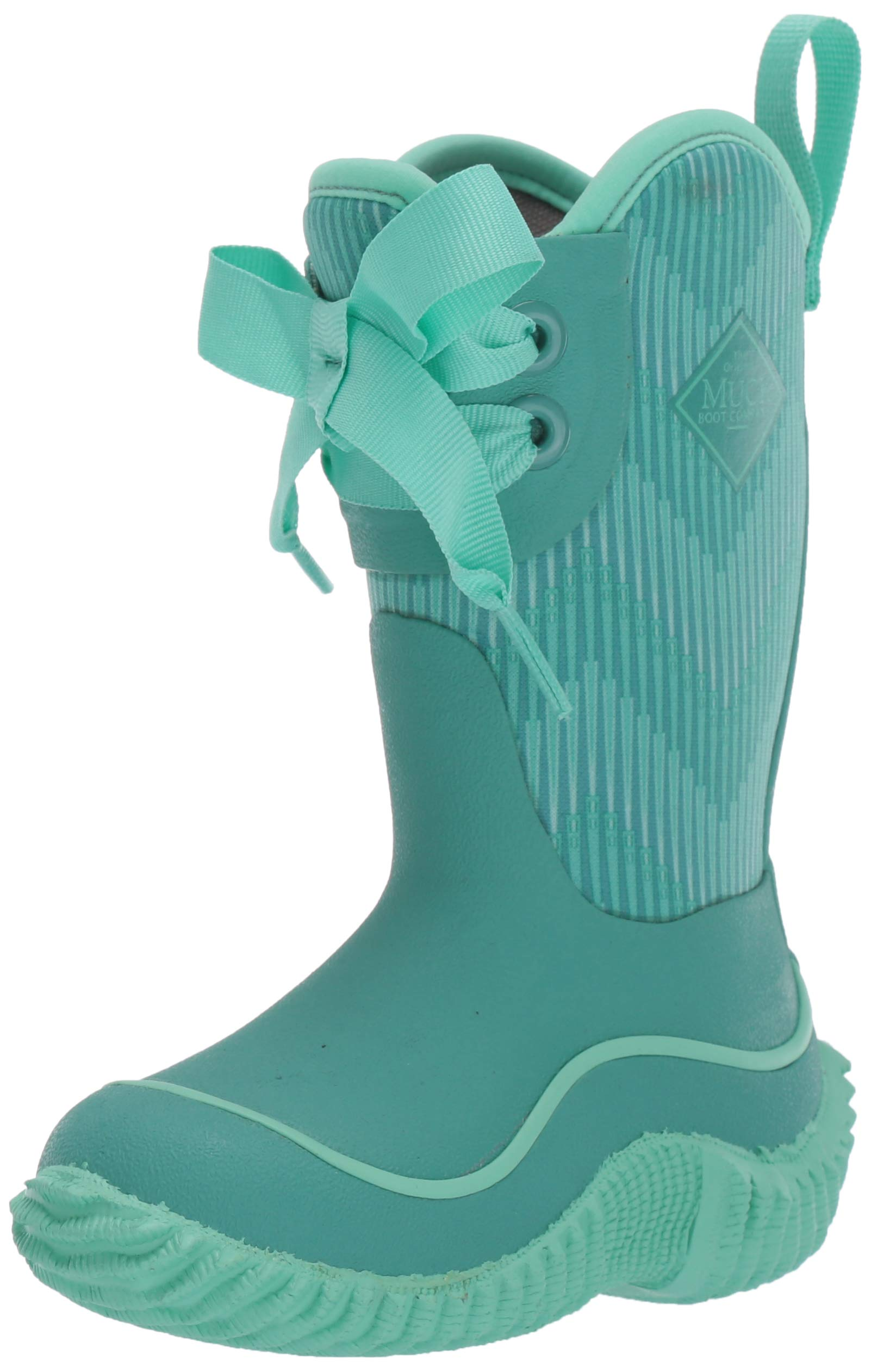 Muck Boot Unisex Halo Prints Knee High Boot, Blue Chevron, Youth 2 Regular US Big Kid by Muck Boot