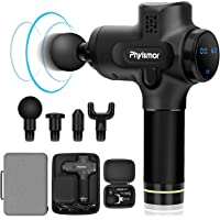 Phyismor Handheld Deep Tissue Muscle Massage Gun with LCD Touch Screen for Athletes & Fitness Enthusiasts