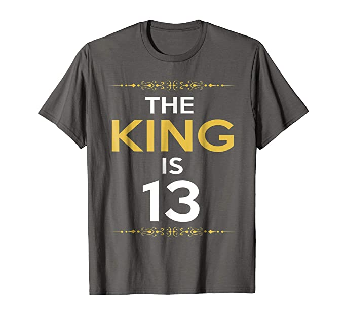 Mens Kings Is 13 Years Old 13th Birthday Gift Ideas For Him Boy 2XL