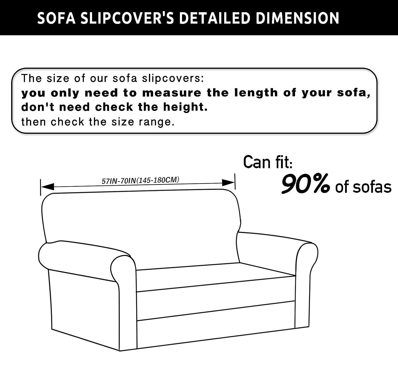 Amazon TIKAMI 2 Piece Spandex Printed Fit Stretch Sofa