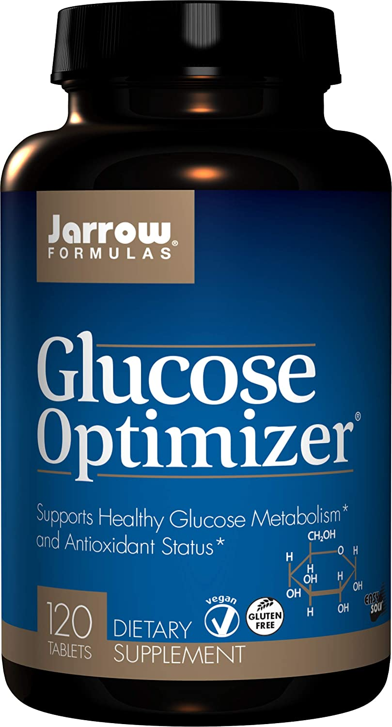 Jarrow Formulas Glucose Optimizer, Supports Healthy Glucose Levels and Antioxidant Status, 120 Easy-Solv Tabs