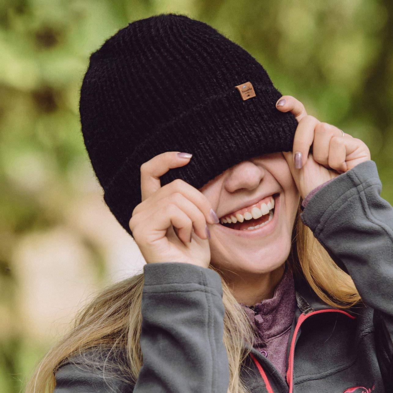 Heaviesk NH17M010-Z Binnie de Lana con Manguito de una Sola Capa de Punto para Hombres y Mujeres