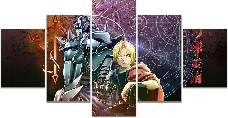 Anime Fullmetal Alchemist Poster Edward Elric Alphonse Elric Print on Canvas Wall Art for Living Room Decor (Unframed, Fullmetal Alchemist)