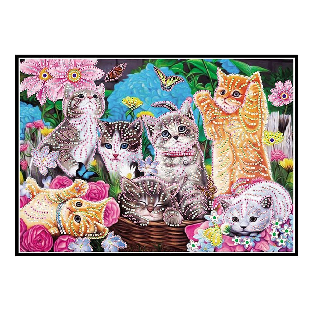 Diamond Painting AliveGOT 5d Diamond Painting Kits for Adults Kids Set Cats Full Drill Diamond dotz for Home Wall Decor