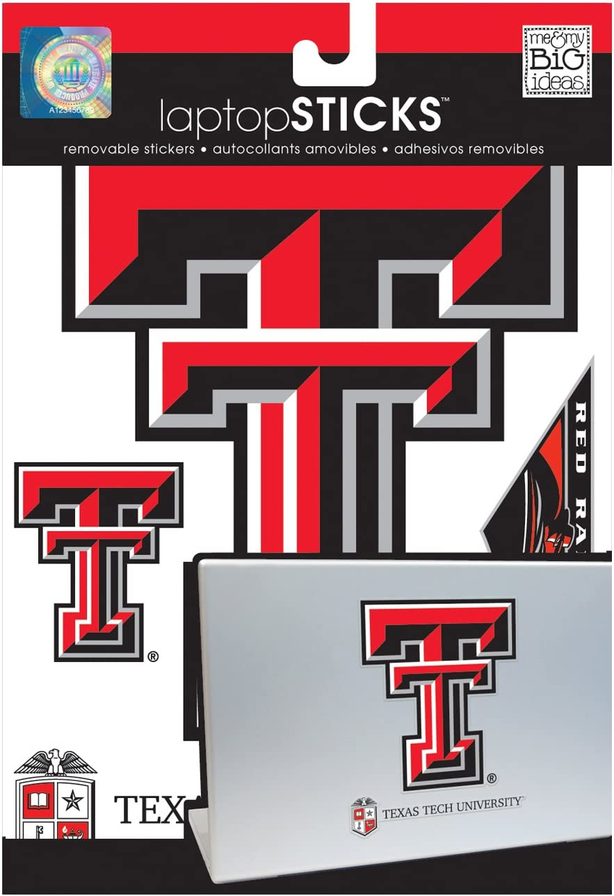 Big Ideas NCAA Officially Licensed Removable Laptop Stickers