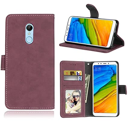 new arrivals 15419 b9d34 Amazon.com: Happon Xiaomi Redmi 5 Leather Wallet Case with Girls ...