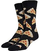 Socksmith Mens Socks Pizza Crew Black 1pair, Mens Size 10-13