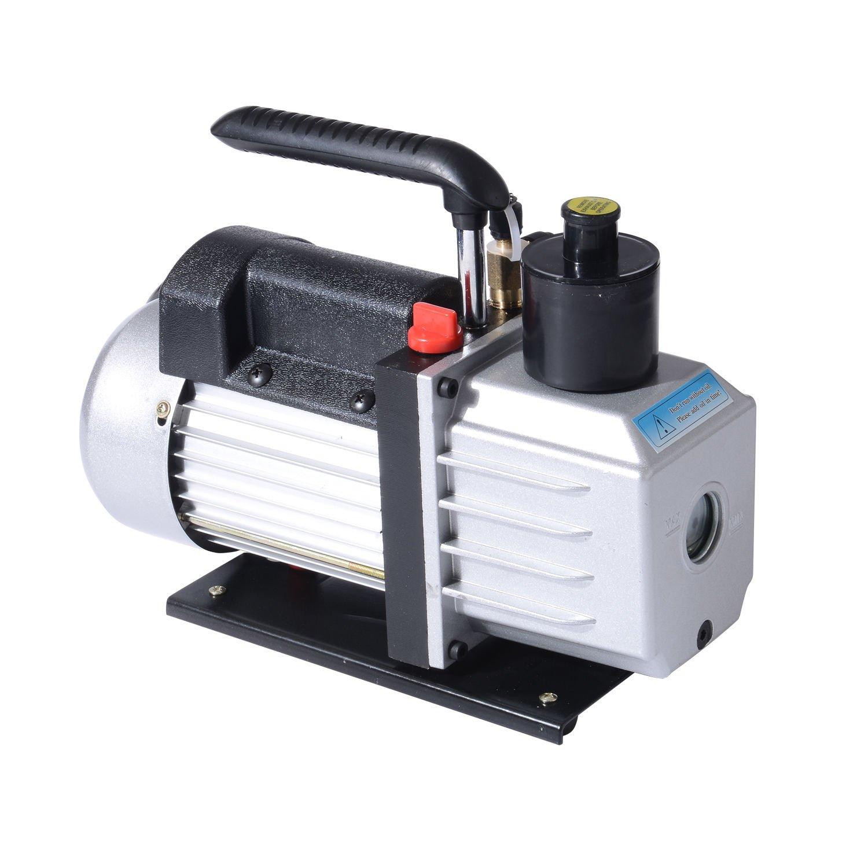 HomCom Single Stage 7 CFM Rotary Vane 1/2 HP HVAC Refrigerant Vacuum Pump by HOMCOM (Image #3)