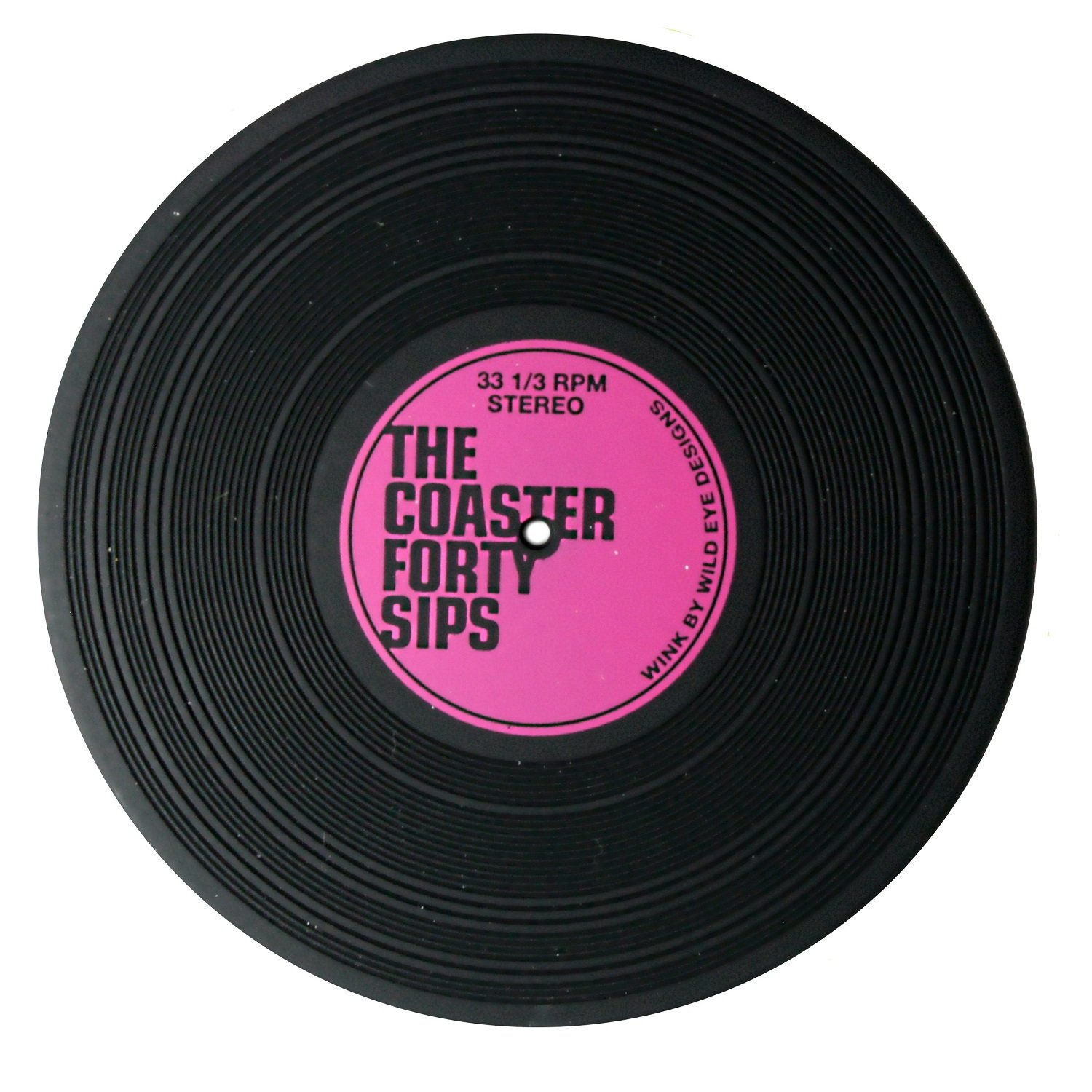 Wild Eye Designs The Coaster Forty Sips Vinyl Record Coaster Set of 2