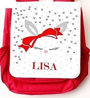 Kindergartenrucksack für Mädchen - personalisiert mit Namen - mit Brustgurt/Kindergartentasche