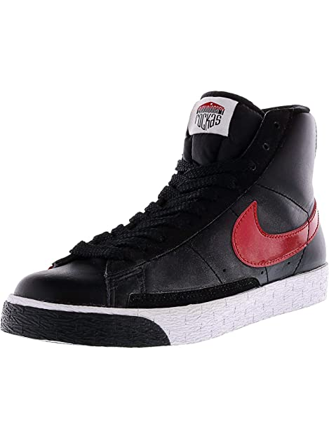 cheap for discount ea640 3e2fb Nike Women's Blazer High Black/Varsity Red-White High-Top ...