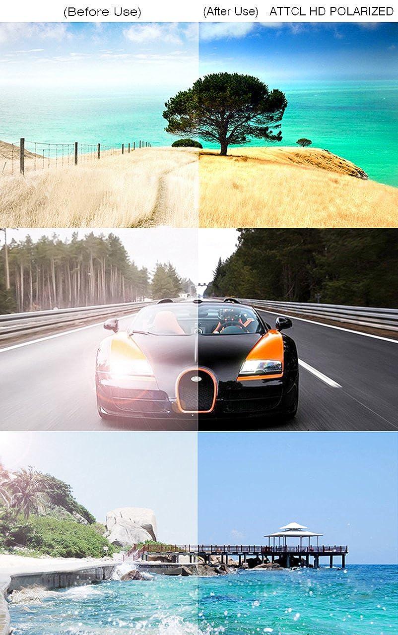 ATTCL Mens Retro Driving Polarized Sunglasses Man Al-Mg Metal Frame Ultra Light
