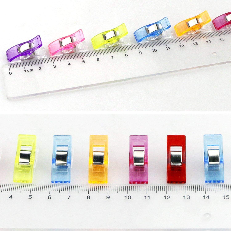 Depory 100 st/ücke N/ähen Clips Quilten Crafting mit PS-Box Paket Mehrzweck Craft Clips Sortiert 9 helle Farben