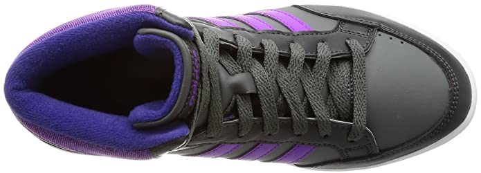 adidas Core Kinder High grau schwarz violett BB9945 Hoops