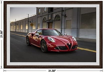 Amazoncom Alfa Romeo C US Version Framed Race Car Art - Alfa romeo posters