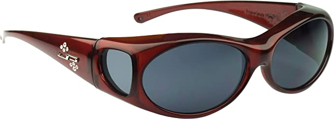 c6d3ba89ea Fitovers Eyewear Aurora Sunglasses with Swarovski Elements on temples  (Claret
