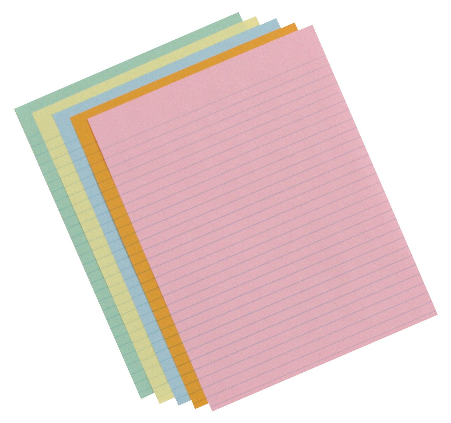 School Smart (085454) 20 lb 3/8 in Ruled Exhibit Paper Assortment - Ream of 500 - Assorted Colors