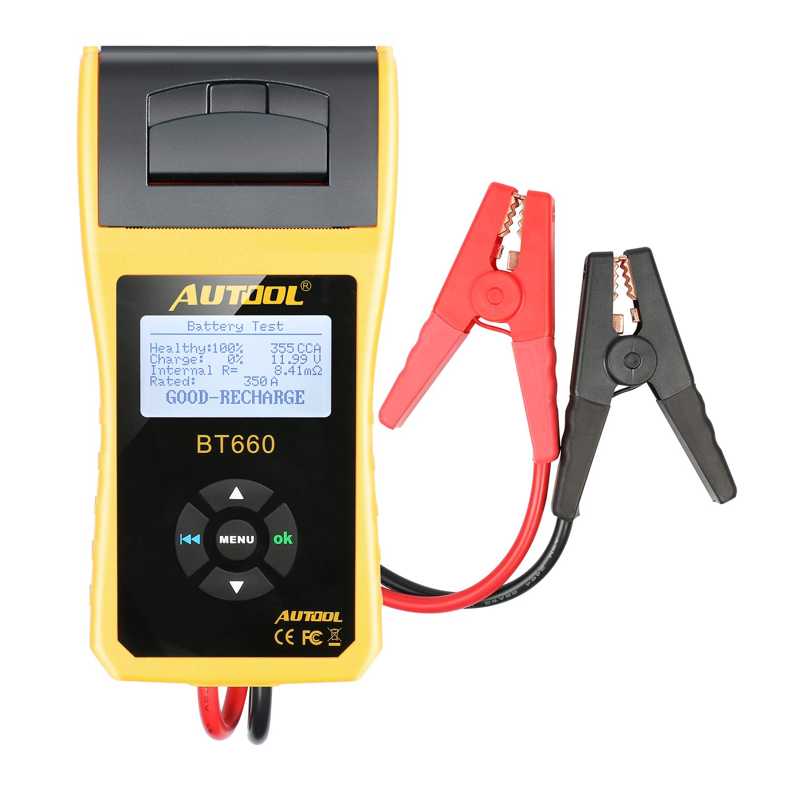 AUTOOL BT660 Battery Conductance Tester 12V/24V BT-660 Auto Battery Testers Automotive Diagnostic Tools for Heavy Duty Trucks, Light Duty Truck, Cars by AUTOOL (Image #3)