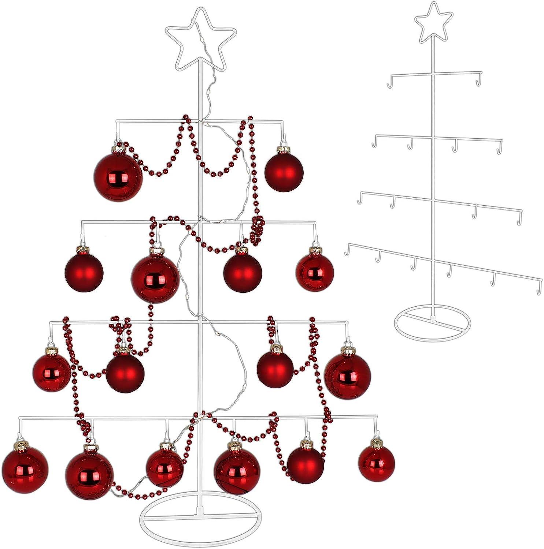 TW24 Metall Weihnachtsbaum mit Stern 76cm f/ür Zierschmuck Stern Christbaum Deko Tannenbaum Weihnachtsdeko Metallbaum