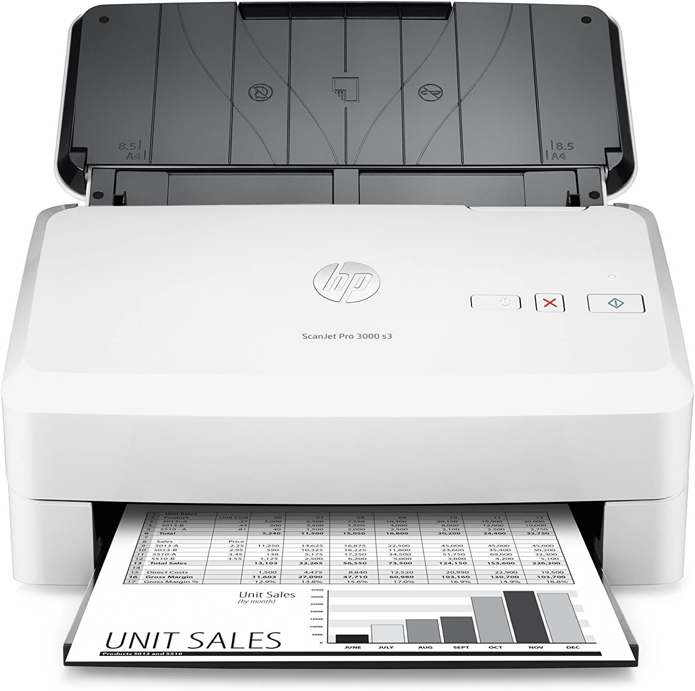 HP ScanJet Pro 3000 s3 Sheet-feed OCR Scanner (Renewed)