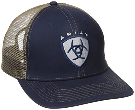 e9dd3d5bc0184 Ariat Men s Navy Center Logo