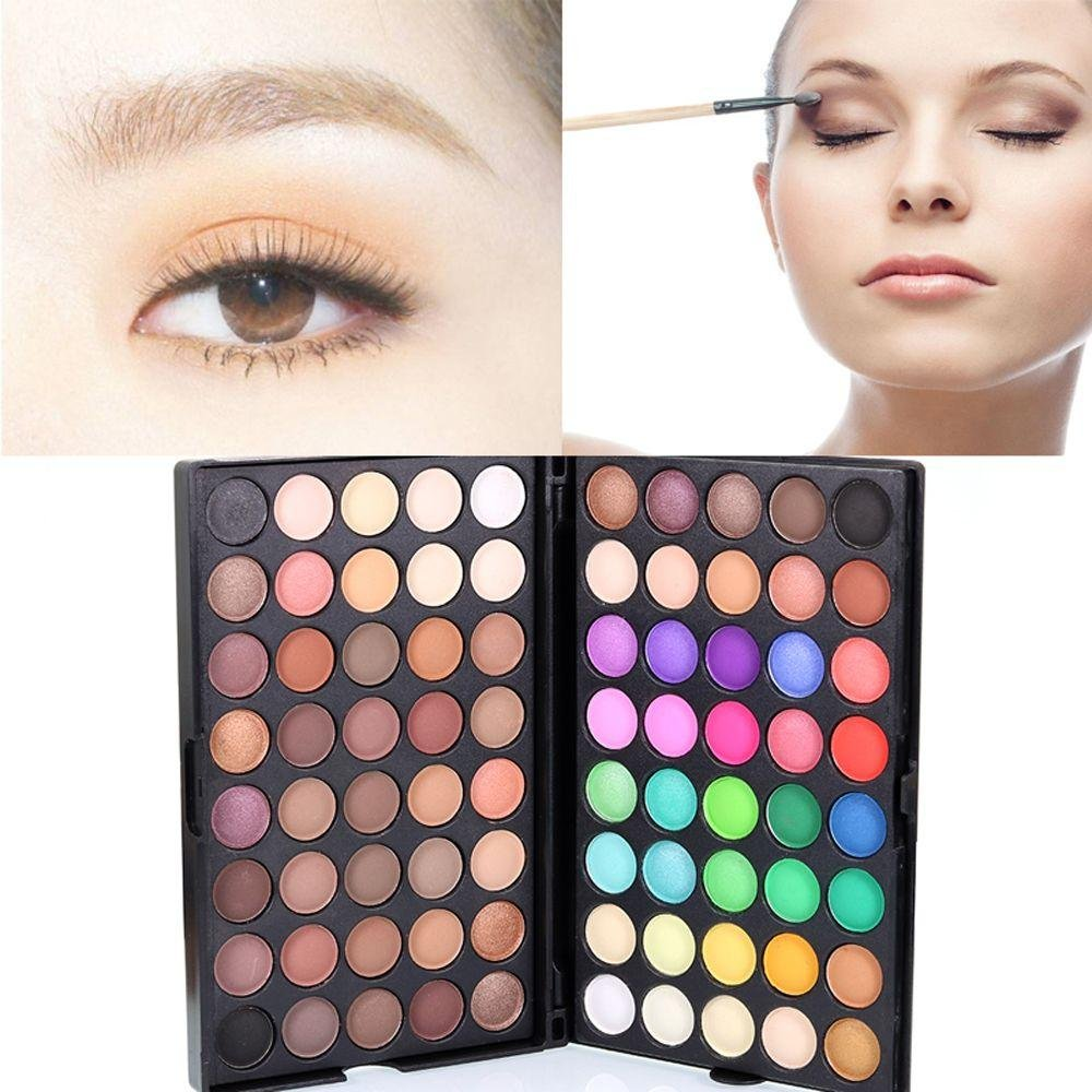 Miswilsi Fashion Makeup Highly Pigmented Cosmetic Eye Shadow Palette Emphasize Eyes and Cheeks 80-Color Long Lasting