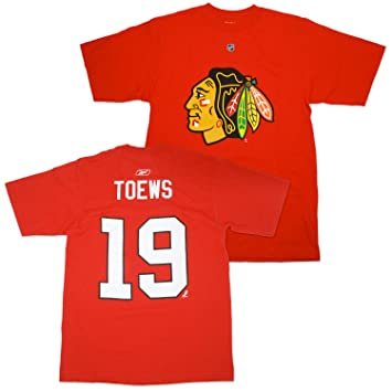 Jonathan Toews Blackhawks Reebok NHL Player T-shirt camisa