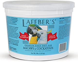 product image for LAFEBER'S Premium Daily Diet or Gourmet Fruit Pellets Pet Bird Food, Made with Non-GMO and Human-Grade Ingredients, for Macaws & Cockatoos
