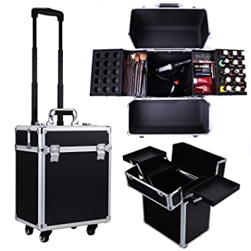 Caja de maquillaje profesional para carro de belleza de Storagerdressin de Genérico, caja de cosméticos para almacenamiento de tocador de peluquería y ...