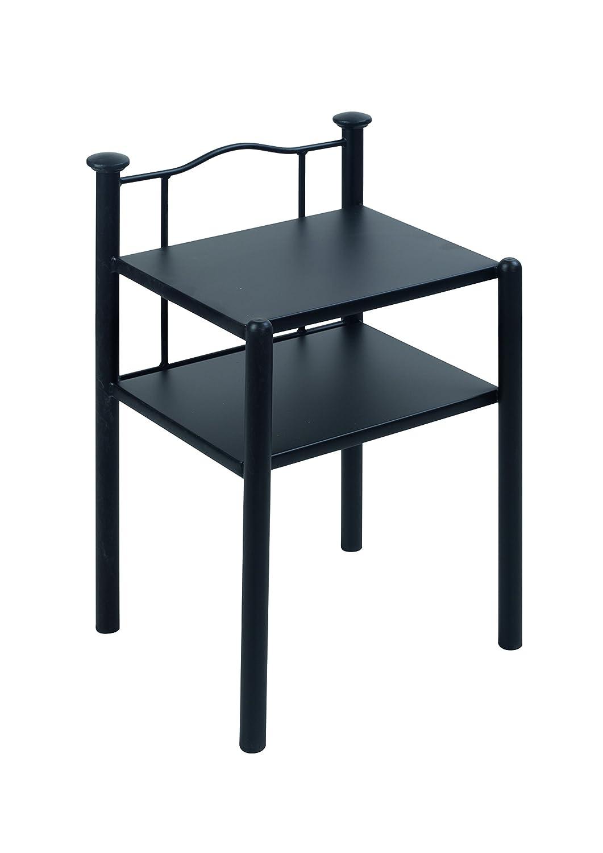 Nachttisch Olbia, Metall, schwarz, 38 x 45 x 68 cm