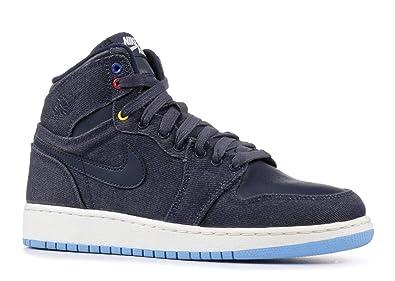 innovative design dd76a 28716 Nike air Jordan 1 Retro high BG hi top Trainers 682782 Sneakers Shoes (UK 6