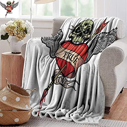 Brilliant Amazon Com Wearable Blanket Tattoo Angel Wings With Skull Theyellowbook Wood Chair Design Ideas Theyellowbookinfo