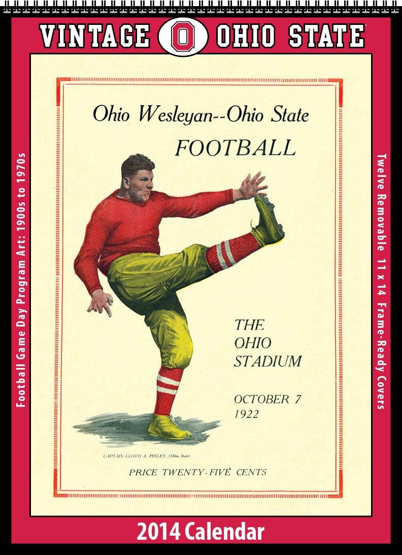 Ohio State Buckeyes 2014 Vintage Football Calendar by Asgard Press
