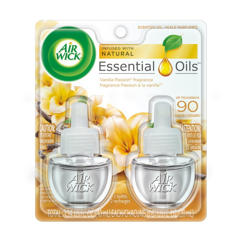 Air Wick plug in Scented Oil 12 Refills, Cold Stone Creamery Vanilla Bean , (6x2x.67oz), Essential Oils, Air Freshener by Air Wick