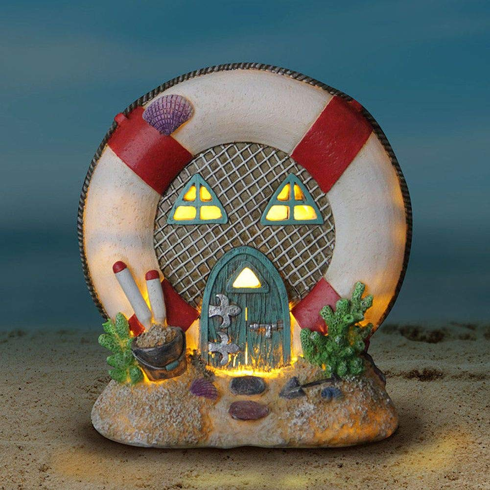 Miniature Dollhouse FAIRY GARDEN - Solar Lifesaver House - Accessories by FOTOOLS (Image #2)