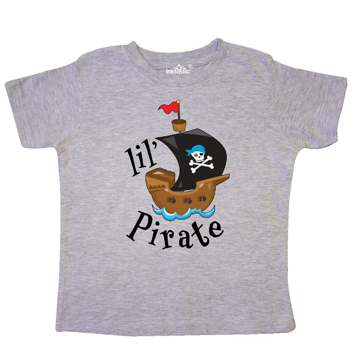 Lil Pirate Pirate Ship Blue Bandana Tshirt 2d7