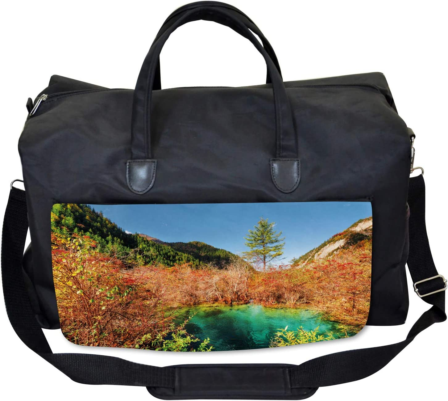 Idyllic Autumn Season Ambesonne Nature Gym Bag Large Weekender Carry-on