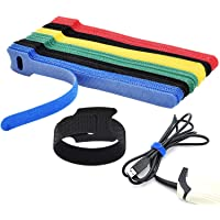 Cable Straps Reusable Fastening Cable Ties Microfiber Cloth Cable Strips Adjustable Multipurpose Securing Wire Organizer…