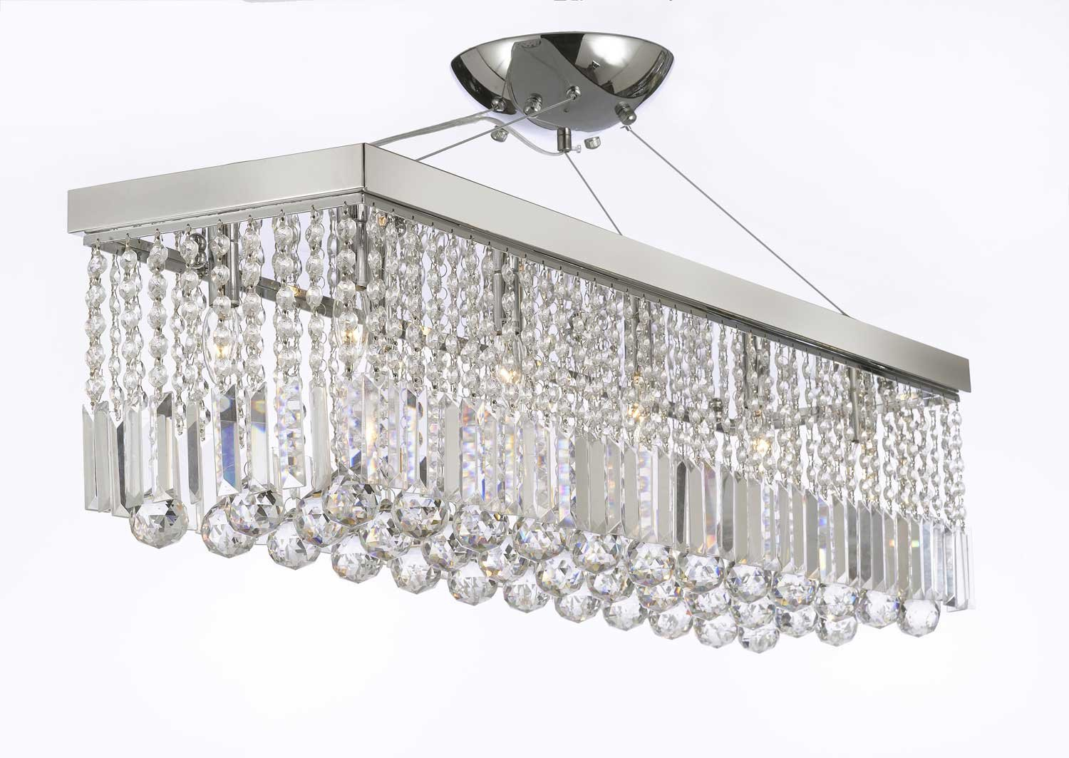 10 Light 40 Contemporary Crystal Chandelier Rectangular Chandeliers How To Install A And Dimmer Switch Apps Directories Lighting Diy Tools