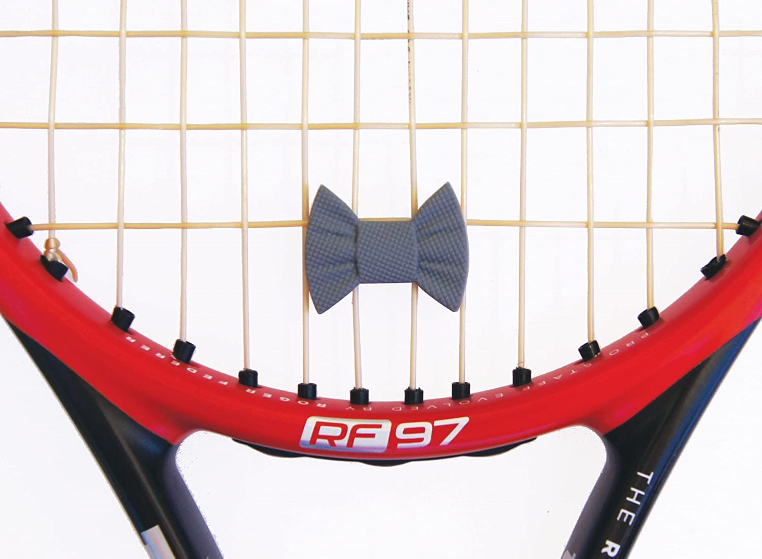 Amazon.com : Tennis Vibration Dampener- Set of 6-Tennis Shock Absorber For Strings- Bow Tie and Tie for Tennis Racket. Stylish- Long Lasting & Reliable- ...