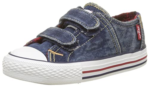 c09ef9ed Levi's Red Tab Velcro Low Checker, Original Sports Shoes Boys Blue Size:  3.5UK