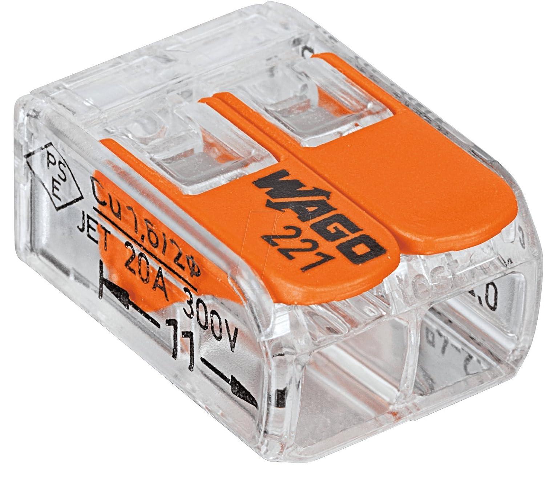 Baumarkt Anschlussklemmen & Kits Wago Verbindungsklemmen GENISYS-SET® 5x221-412,5x221-413,5x 221-415 in praktischer transparenter wiederverschliessbaren Aufbewahungsbox