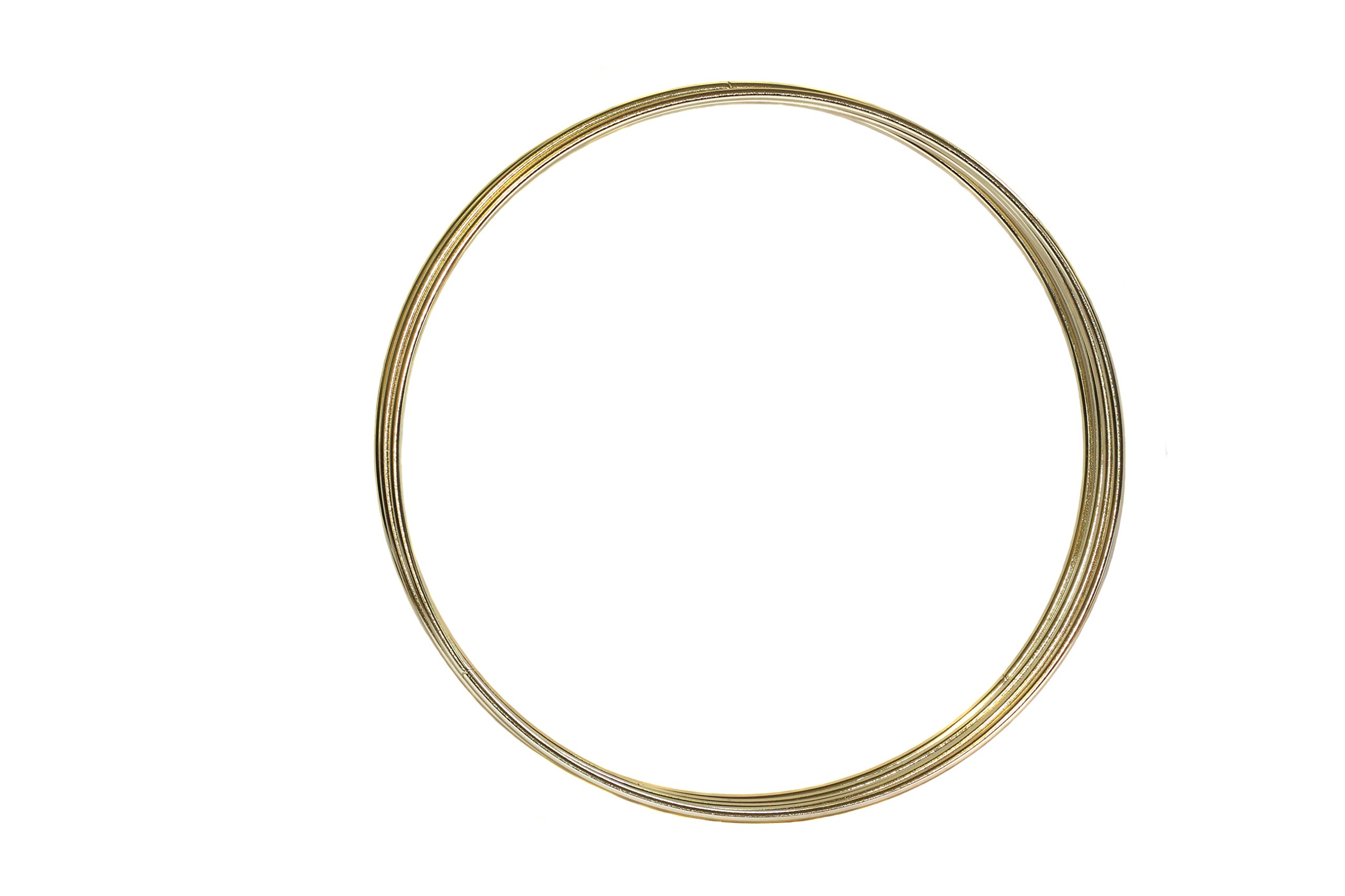 Bistore - Bulk Buy - Macrame Metal Hoops for Dream Catchers and Other DIY Craft Projects (50pcs 10-inch gold hoops, Gold)