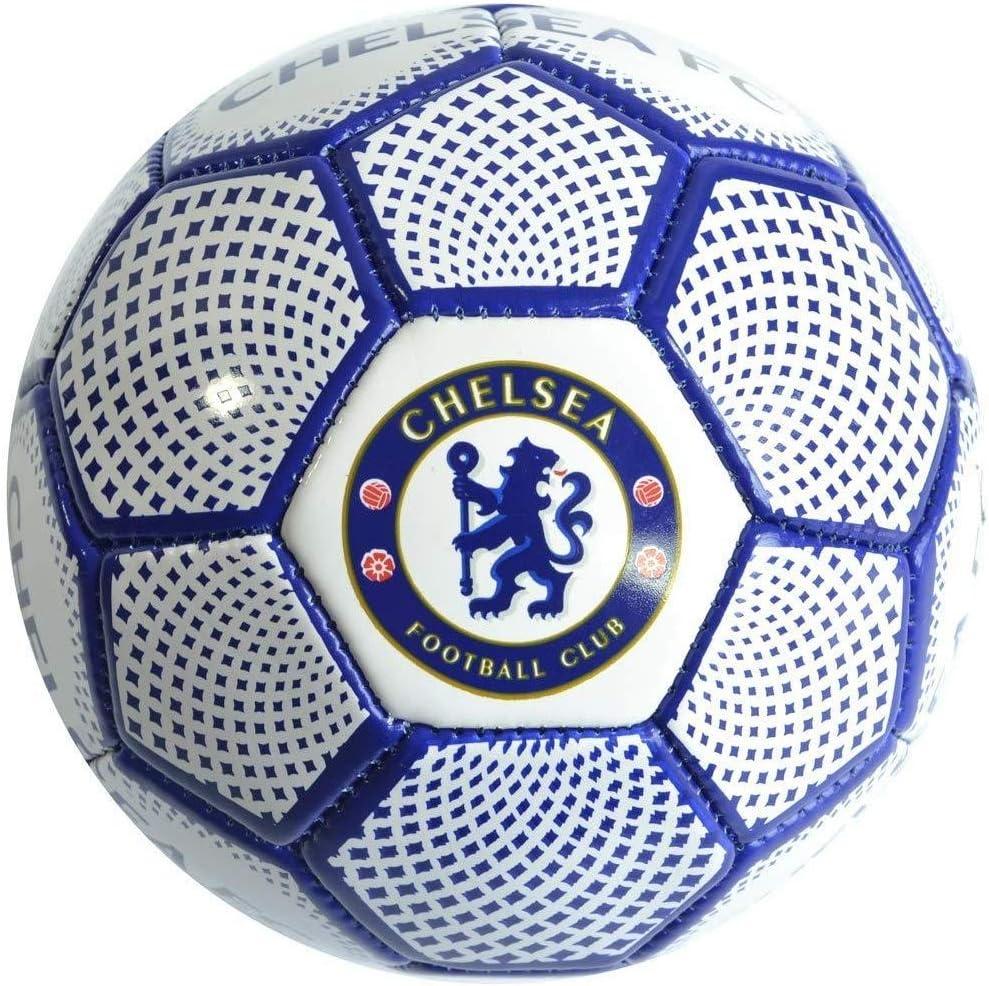 Chelsea FC Unisex Youth Diamond Football Size 1 White//Blue