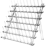 Thread Holder, 70 Spools Acrylic Foldable Thread Rack, Transparent Thread Storage Organizer Stand with Screwdriver, for Sewin